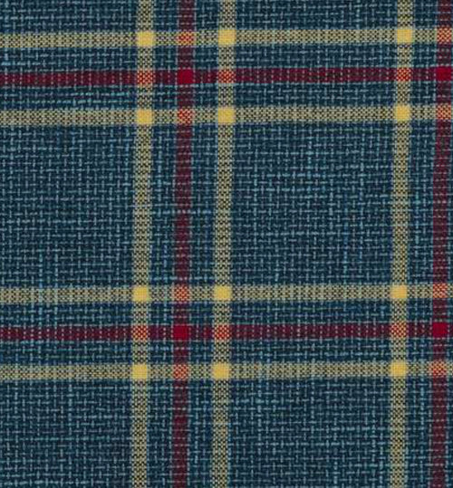 NEW Sir Adrian Plaid Tartan Upholstery Fabric in Teal