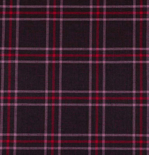 NEW Sir Adrian Plaid Tartan Upholstery Fabric in Aubergine