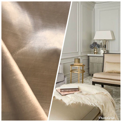 NEW Designer Made In Belgium Upholstery Velvet Fabric- Beige