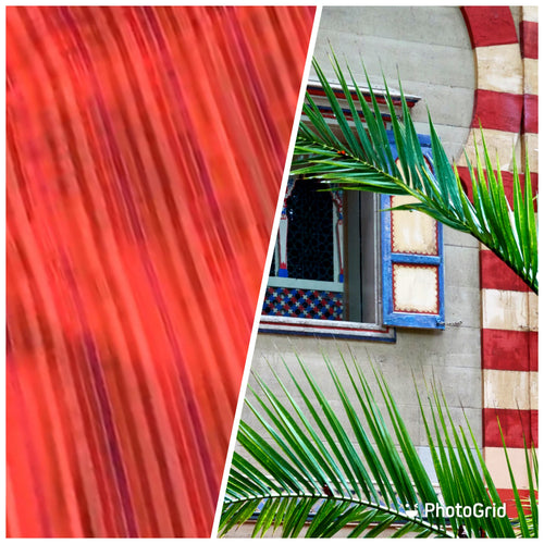 NEW 100% Silk Taffeta Fabric Red Multicolor Stripes