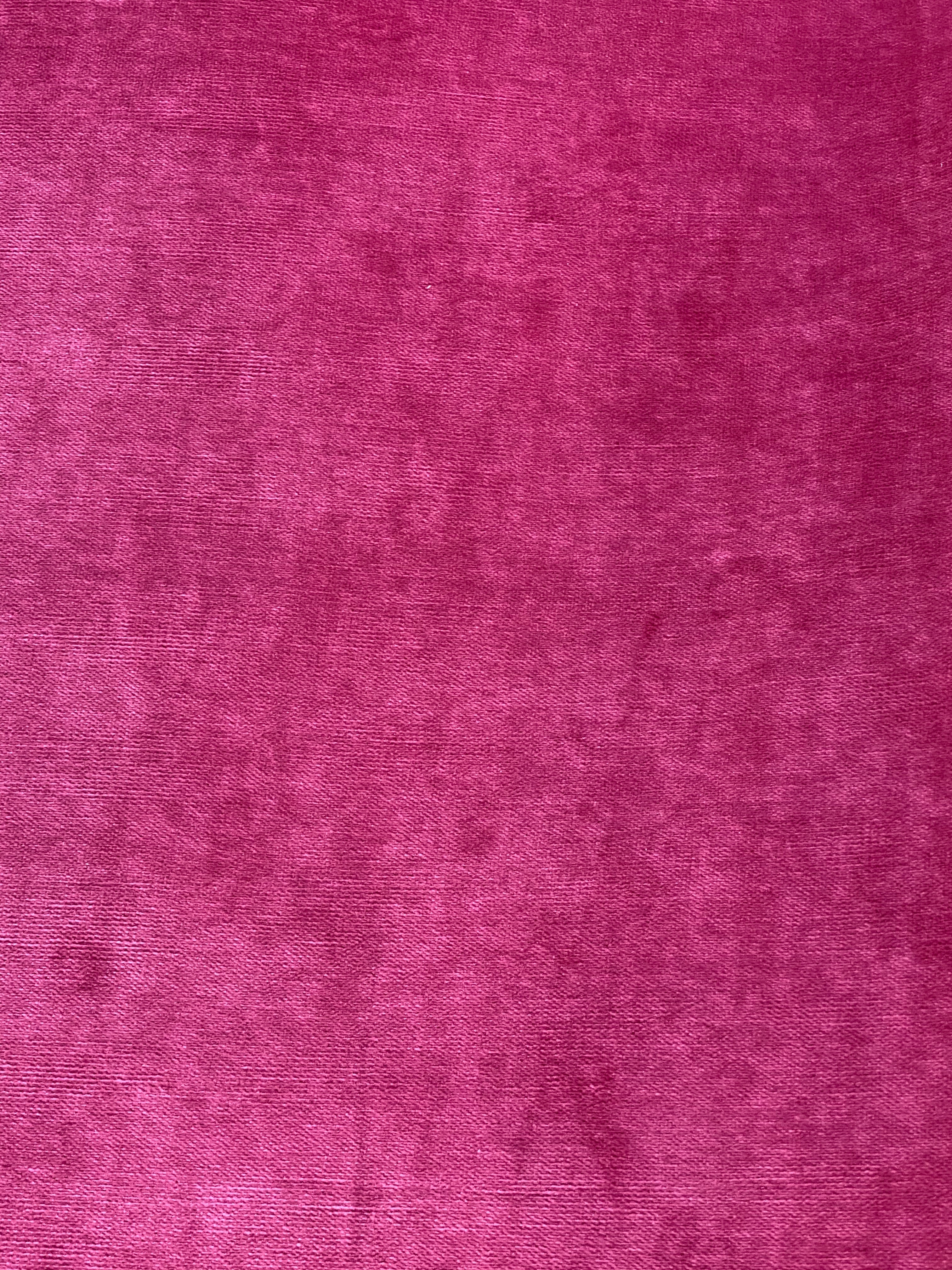 NEW Designer Upholstery Heavyweight Velvet Fabric - Fuchsia