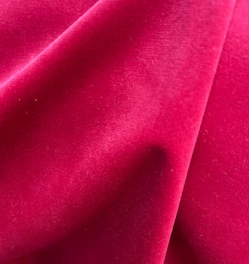 NEW Designer Velvet Upholstery & Drapery Fabric -Soft- Fuchsia - By The Yard