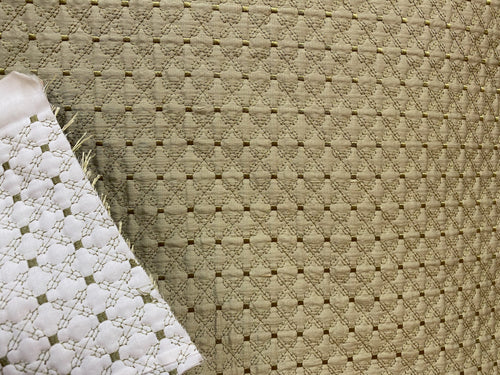 NEW 100% Silk Designer Light Sage Green Quilted Fabric