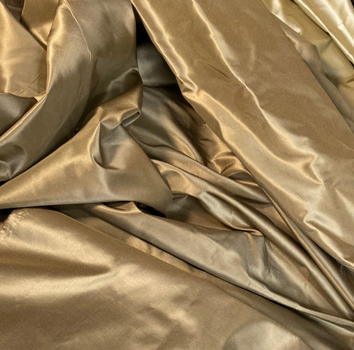 NEW Lady Lisa Designer 100% Silk Taffeta Fabric Solid Gold