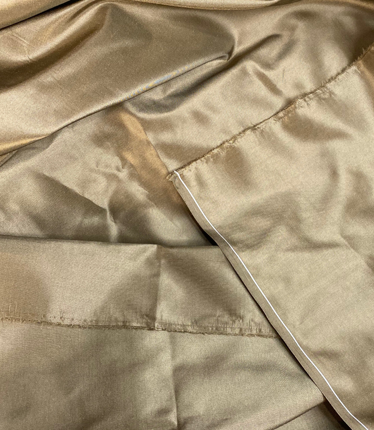 NEW Designer 100% Silk Taffeta Fabric Solid Gold