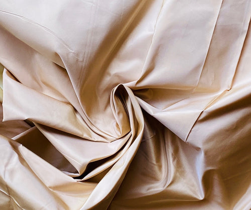 NEW Designer 100% Silk Taffeta Fabric Solid Peach Pink
