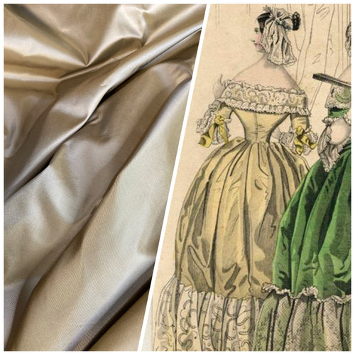 NEW Designer 100% Silk Taffeta Fabric Solid Light Gold