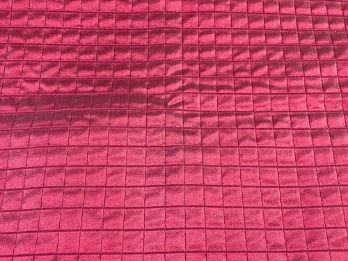 Lady Celestine 100% Silk Quilted Taffeta Fabric with Cotton Backing in Raspberry Pink