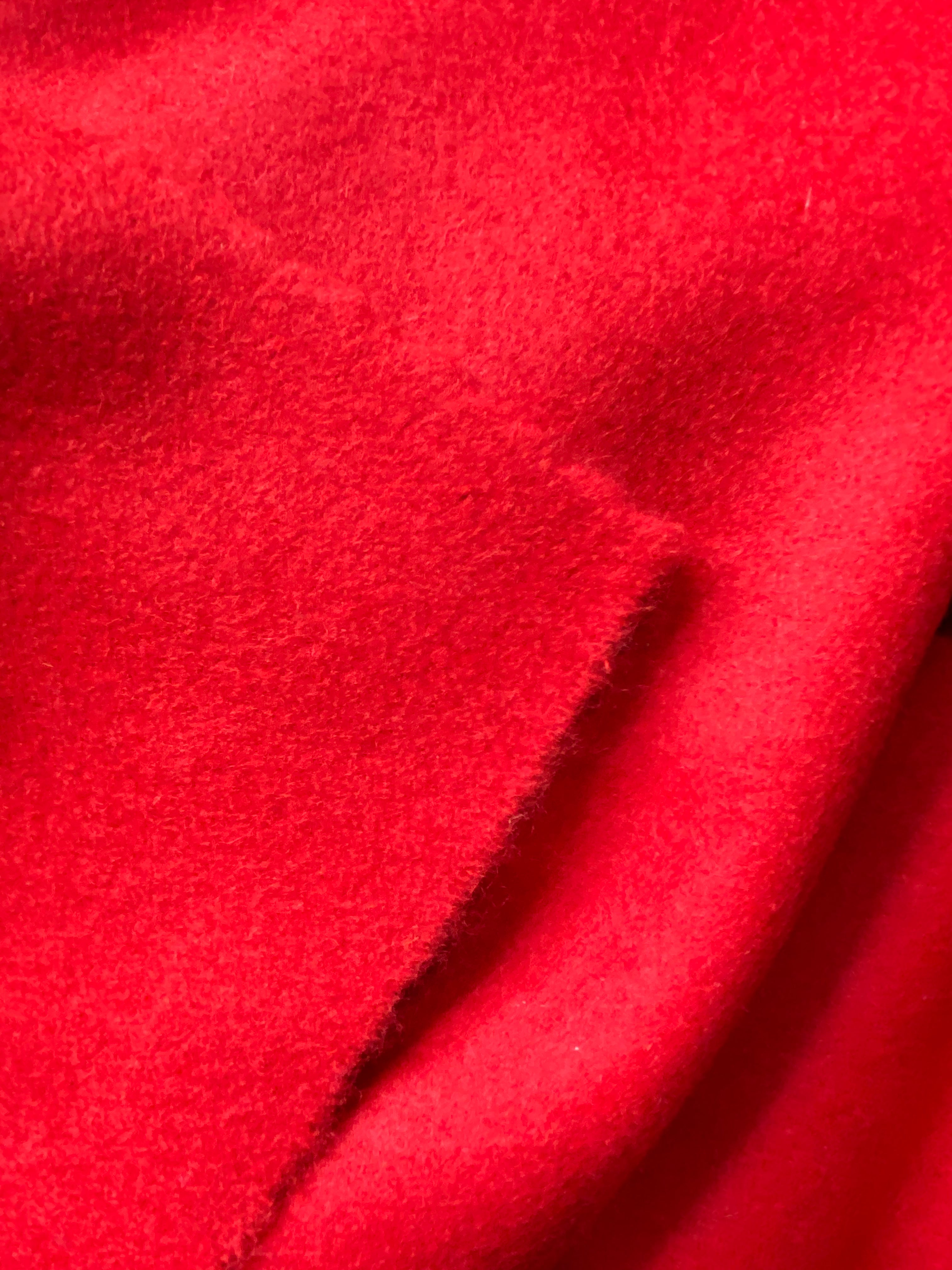 NEW Designer 100% Wool Red Coat Fabric