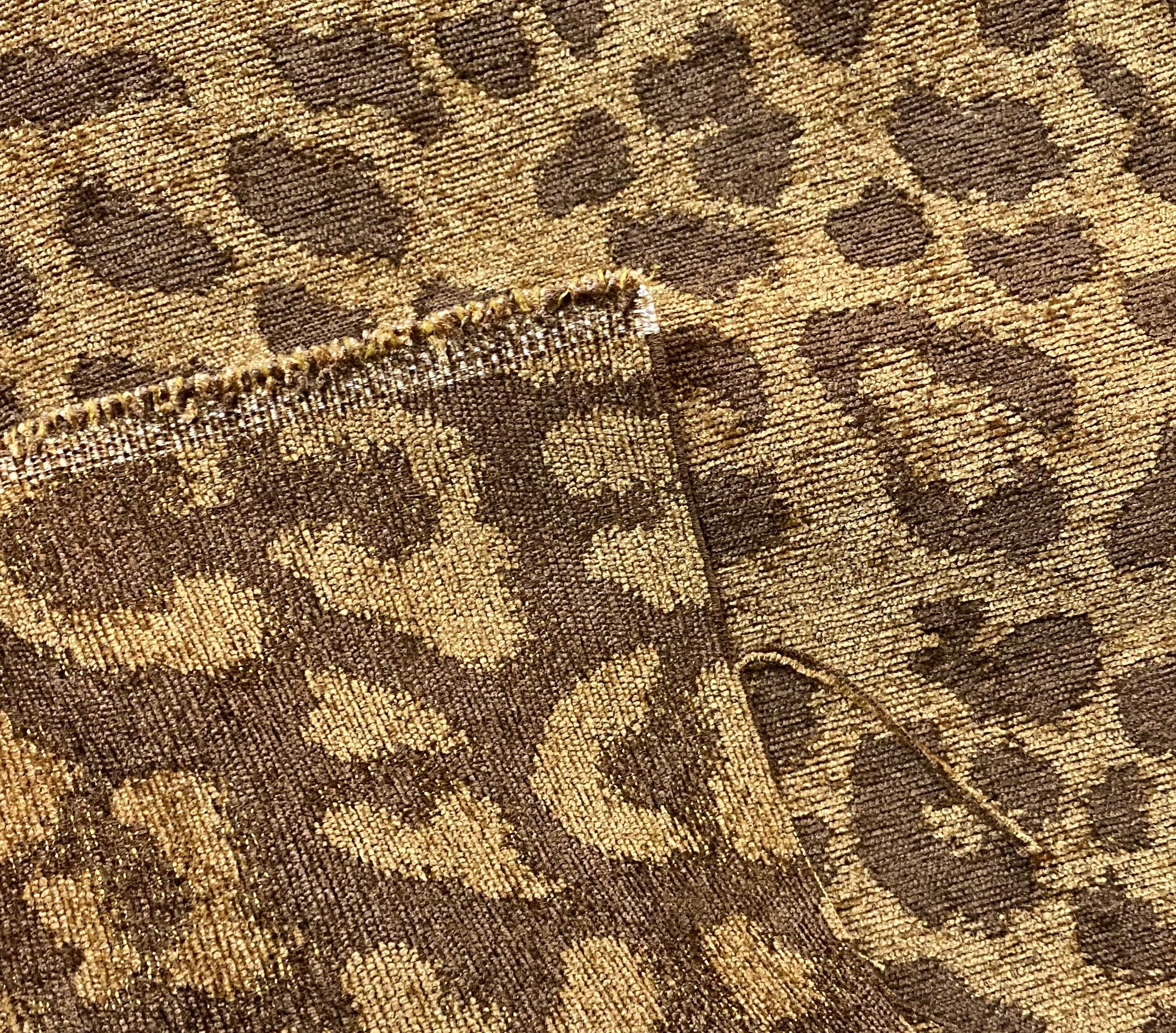 NEW Designer Heavyweight Upholstery Chenille Leopard Gold & Brown Fabric