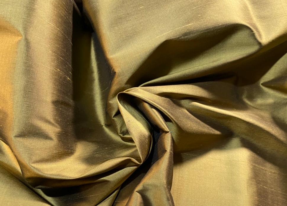 NEW Duchess Mable 100% Silk Dupioni Fabric Solid Gold