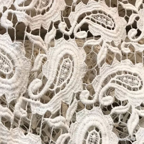 "Designer 100% Cotton Crochet Fabric 45"" Wide - By the yard - Fancy Styles Fabric Pierre Frey Lee Jofa"
