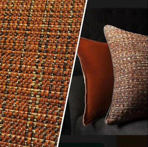 NEW Two-Tone Upholstery Tweed Texture Nubby Fabric -Burnt Orange