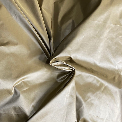 NEW Lady Lisa Designer 100% Silk Taffeta Fabric Solid Light Old Gold