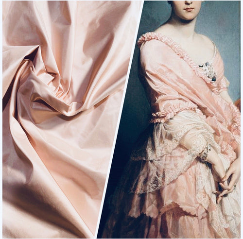 NEW Lady Lisa Designer 100% Silk Taffeta Fabric -Solid Ballet Pink
