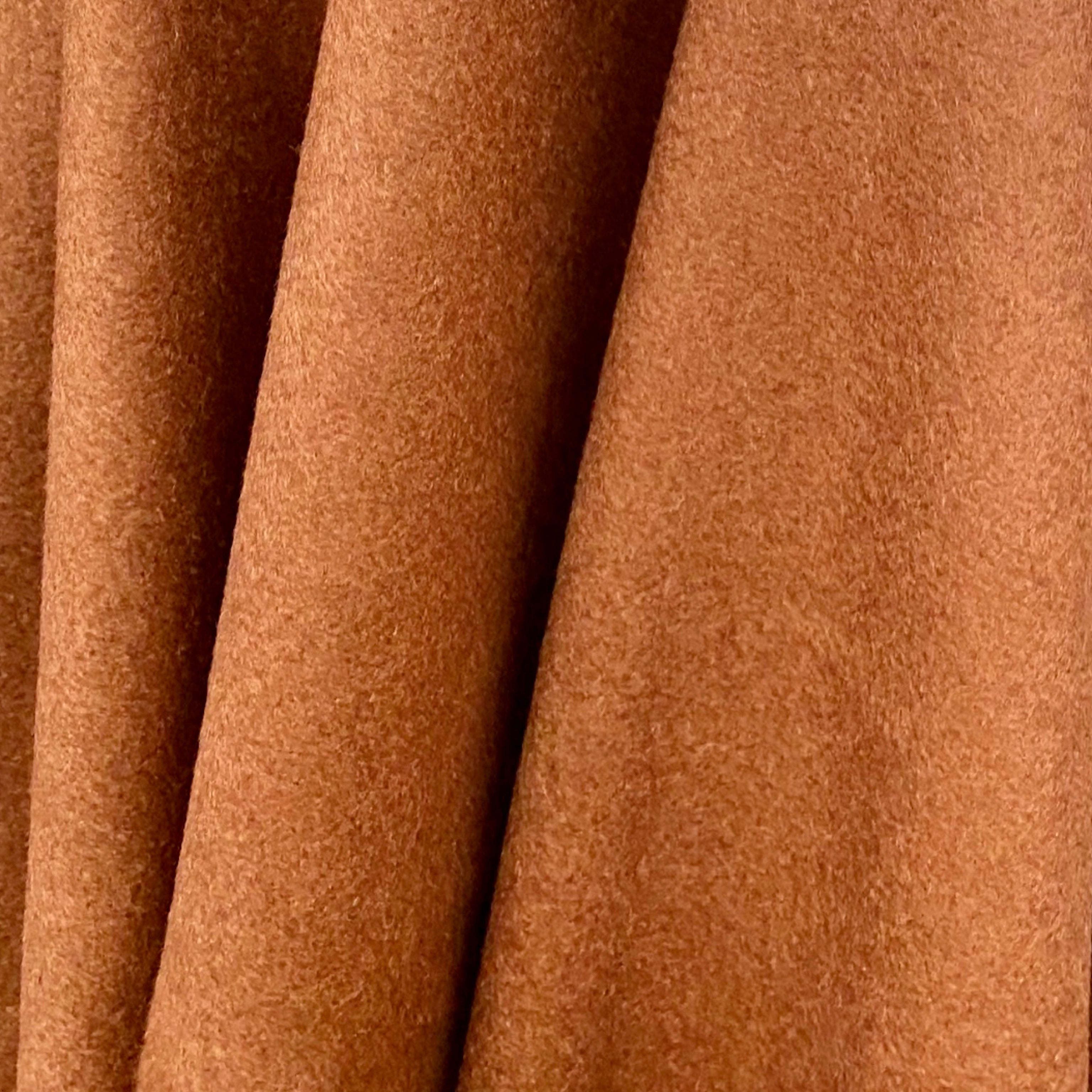 NEW! Designer Imported From Italy Cashmere Wool Woven Fabric- Caramel