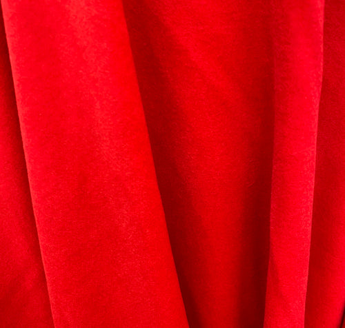 "NEW! Designer Cashmere Woven Coat Fabric - Made In Italy- Red- 58"" Wide"
