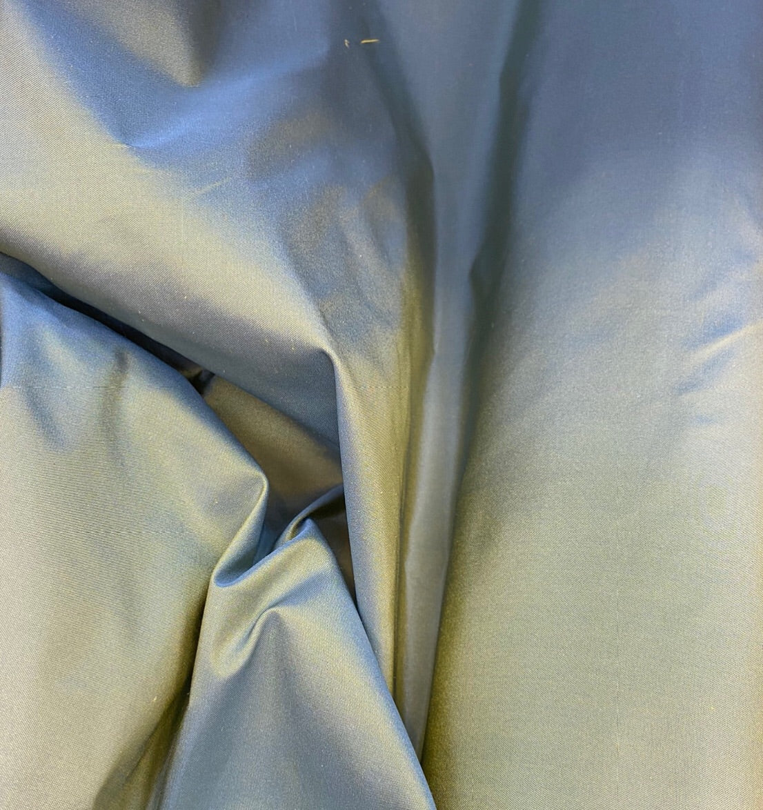 NEW 100% Silk Taffeta Fabric- Duck Egg Blue with Golden Yellow Iridescent