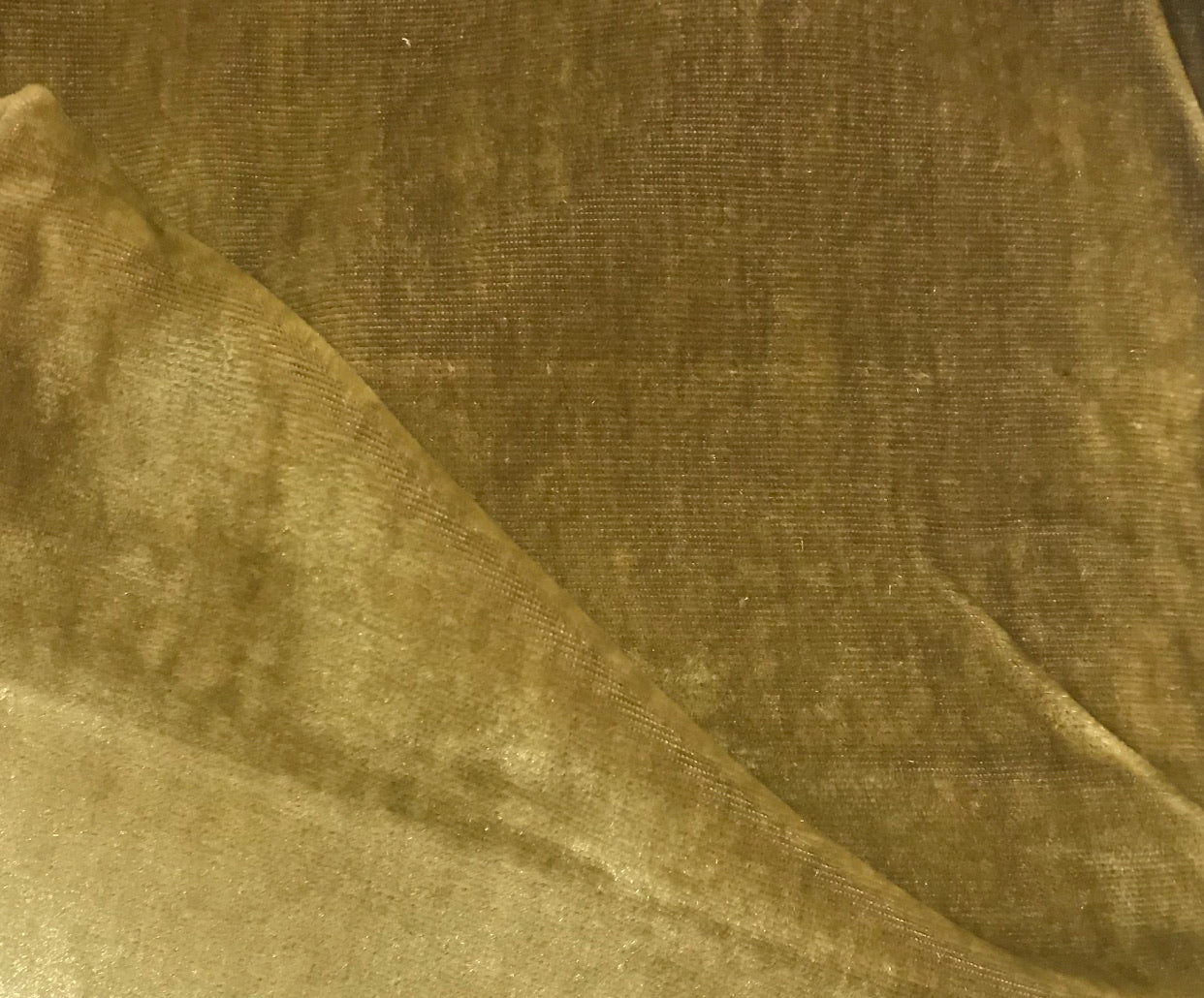 NEW Designer Silk Rayon Velvet Fabric - Dusty Mustard- By The Yard