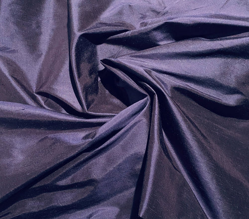 NEW Duchess Mable 100% Silk Dupioni Solid Purple