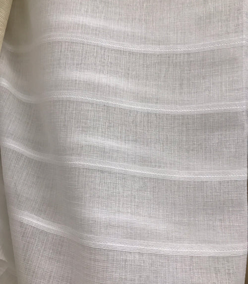 "112"" Wide Sheer Voile Drapery Fabric Interior Decorating- Off White"