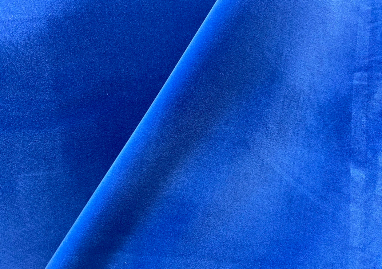 NEW! Prince Oliver Designer 100% Cotton Made In Belgium Upholstery Velvet Fabric Royal Blue