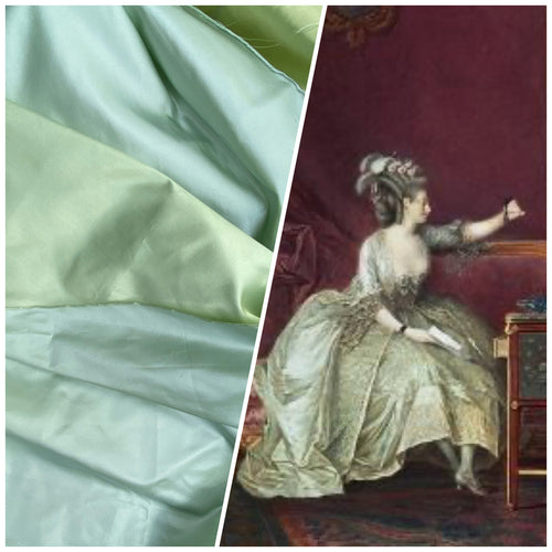 NEW Countess Savannah Designer Solid Aqua & Pistachio Double Sided Satin Fabric