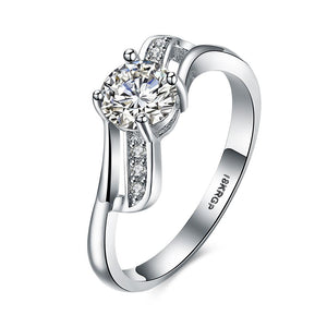 Best Wedding Eight series of diamond ring eight Ring White Gold Jewelry Heart arrow - Livingaffiliate