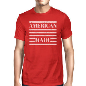 American Made Mens Red Crewneck T-Shirt Gifts Ideas For 4th Of July - Livingaffiliate