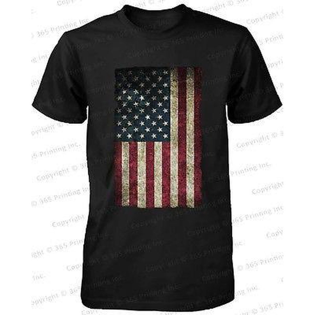 Men's Made American Flag Men's T-shirt -July 4th Red White and Blue Graphic Tee - Livingaffiliate