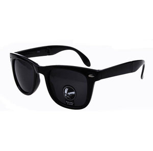Summer Sunglasses for Men & Women Fold Up Square Vintage  Outdoor Sports Glasses With Box Together