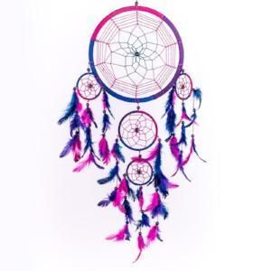 2017 Hot Selling Dream Catcher Circular Purple Feathers Wall Hanging Decoration Decor Craft Purple - Livingaffiliate