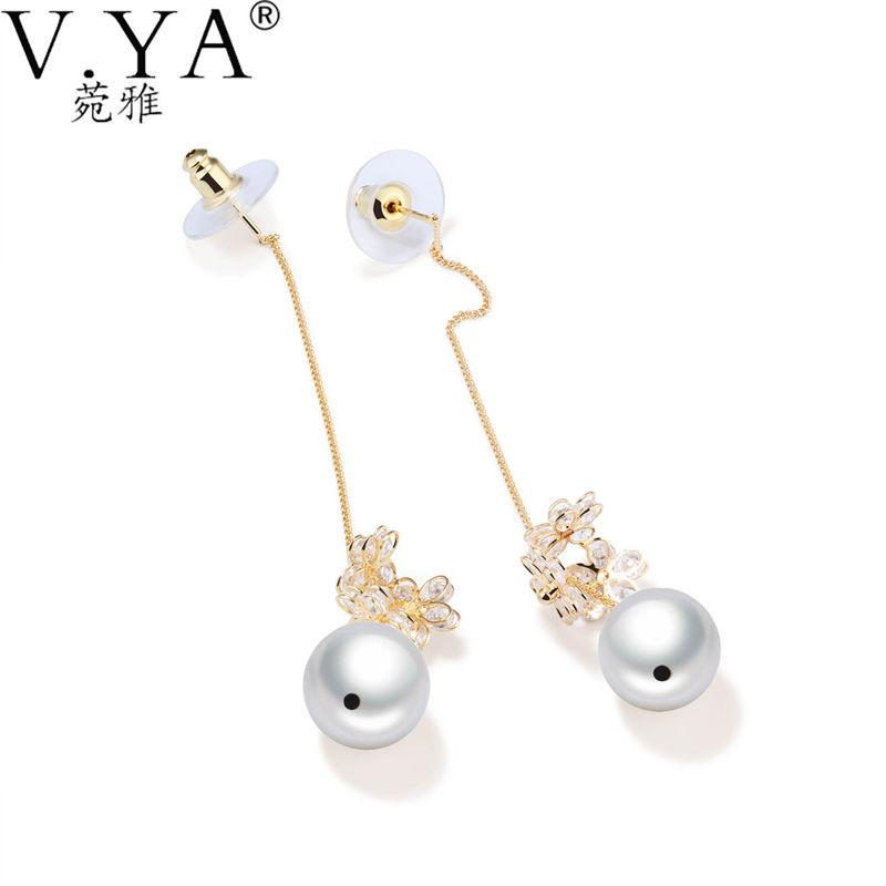 V.Ya Earrings For Women Fashion Simulated Pearl Long Dangle & Drop Earrings Party Jewelry Best Gifts for Female Earrings Charm - Livingaffiliate