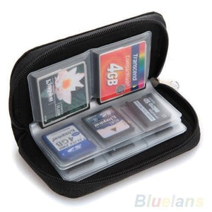 SD SDHC MMC CF Micro SD Memory Card Storage Carrying Pouch Case Holder Wallet - Livingaffiliate