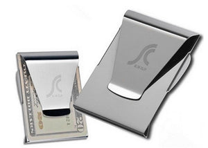 Stainless Steel Card Folder Double Sided Wallet Card Holder Slim Clip Money Clips - Livingaffiliate