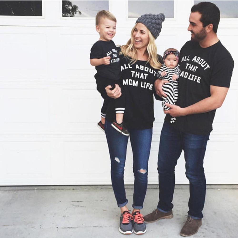 Family match clothes T-shirt - Livingaffiliate