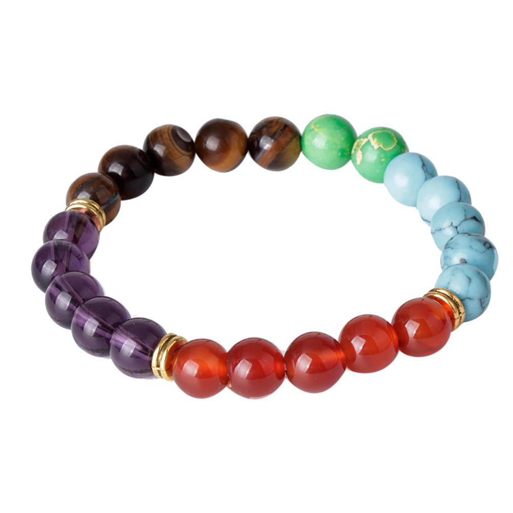 Fashion natural Color stone beads 8 mm  lucky man & woman bracelet - Livingaffiliate