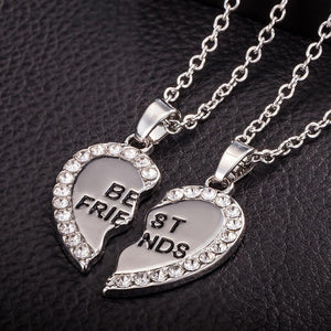 Best Friend Unisex Mens Womens Heart Pendant Necklace Jewelry Chain GD - Livingaffiliate