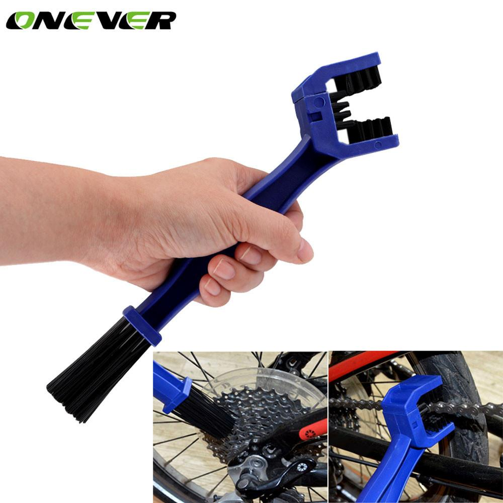 Bike Gear And Chain Cleaner Scrubber Cleaning Tool Multi-purpose Cleaning Brush Tool for All Bikes Motorcycle - Livingaffiliate