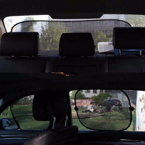 5 Pc/Set Black Auto Sun Visor Car Sun Shade Car Window Suction Cup Car Curtain Auto Sun Shade - Livingaffiliate