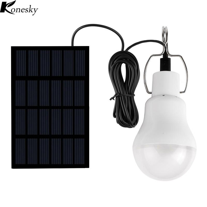 Best 2018 Solar panel LED bulb LED Solar Lamp Solar Power LED Light Solar Lamp Spotlight Garden Light Camp Tent Night Fishing Light - Livingaffiliate