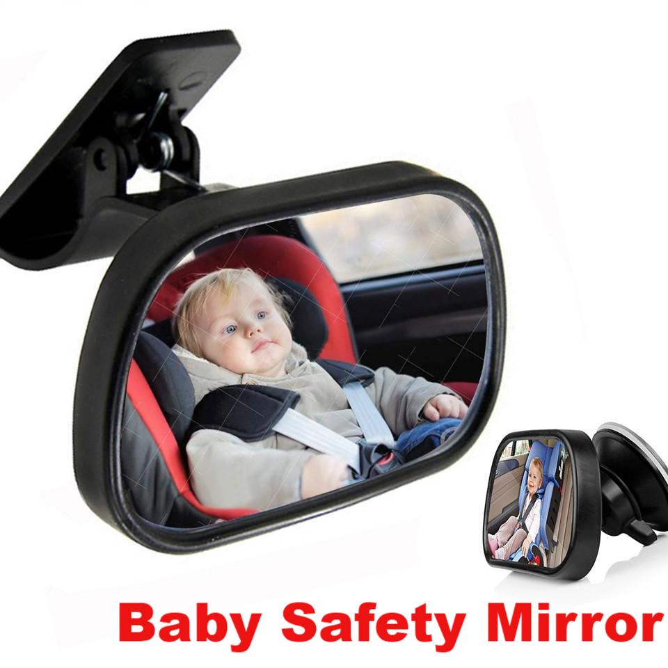1Pcs Mini Car Back Seat View Mirror 2 in 1 Baby Rear Convex Mirror Adjustable Car Baby Kids Monitor Safety Reverse Safety - Livingaffiliate