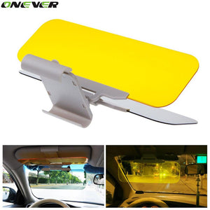 1Pcs Car Sun Visor HD Car Anti-Glare Dazzling Goggle Day Night Vision Driving Mirror UV Fold Flip Down - Livingaffiliate