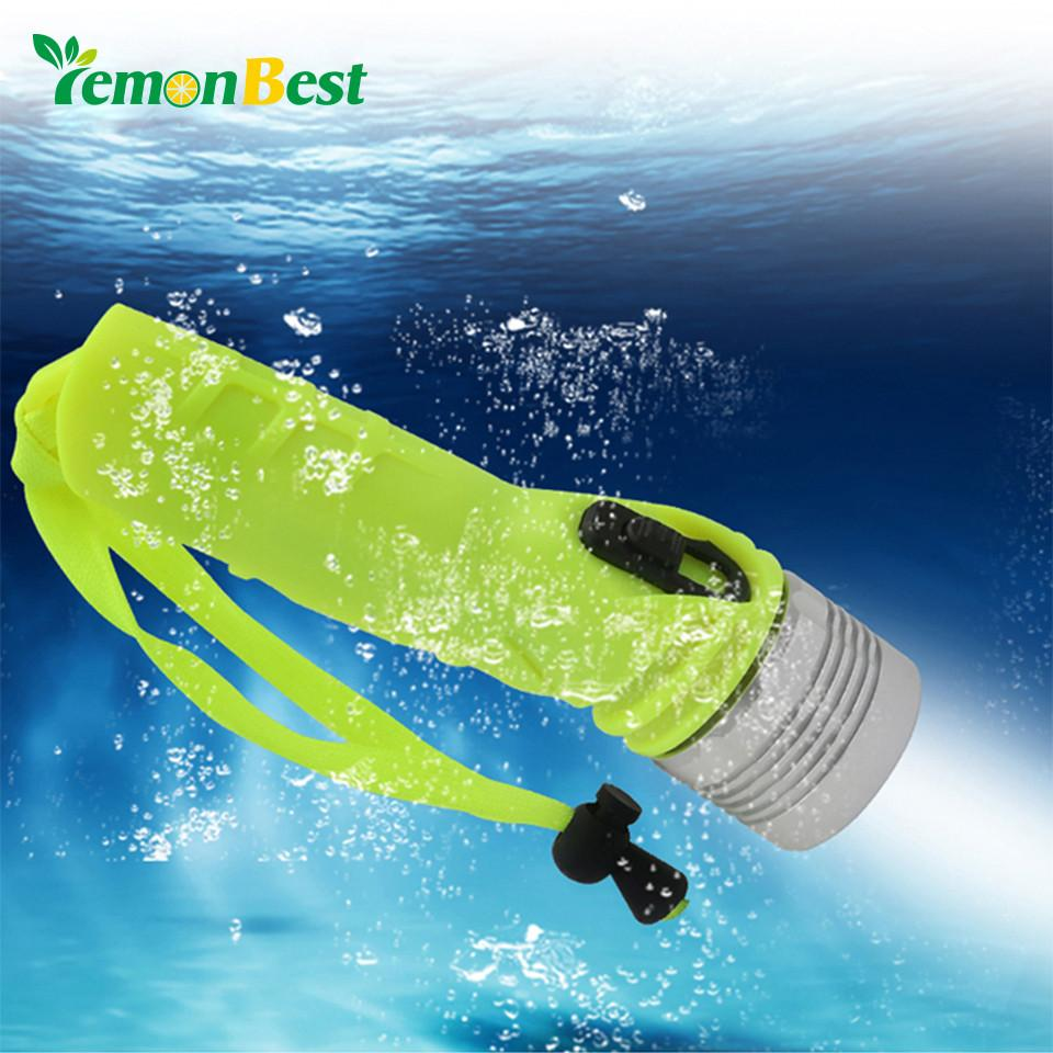 LemonBest Ultra Bright Waterproof Torch Underwater Diving Powerful LED Flashlight Camping Light Battery Powered - Livingaffiliate