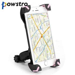 Powstro 360 Degree Rotation Bike Bicycle Motorcycle Handlebar Phone Holder Bracket Mount Shockproof for Iphone Samsung - Livingaffiliate