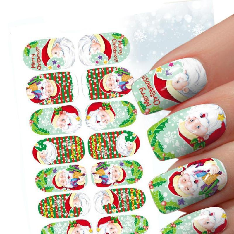 10 Kind of Styles Christmas 3D Nail Art Stickers Snowflakes Cute Snowmen Nail Decals - Livingaffiliate
