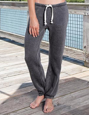 Ladies Triblend Vintage Washed Fleece Jogger, by Enza