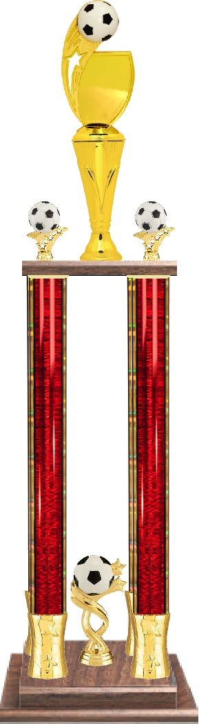 Custom Graphic 4-Column Soccer Trophy