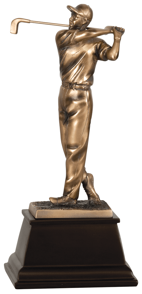 "9 3/4"" Bronze Male Golf Resin Award"
