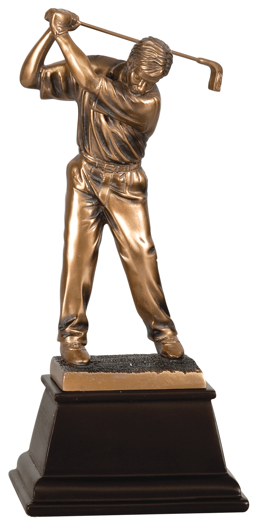 "9 1/2"" Bronze Male Golf Resin Award"